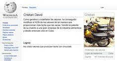 Página de parodia Wikipedia de Cristian