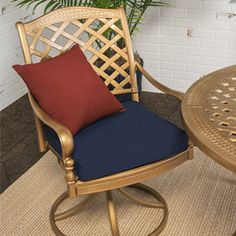 Refresh your outdoor fabric with Rust-Oleum Outdoor Fabric Paint and give your patio cushions, umbrella, and more a new look in minutes without the need to replace what you already have! Patio Chair Cushions, Outdoor Cushions, Patio Chairs, Outdoor Fabric, Outdoor Chairs, Outdoor Paint, Lawn Furniture, Pallet Furniture, Furniture Makeover