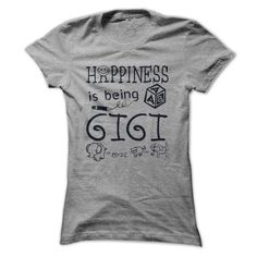 Happiness is being a GigiHappiness is being a Gigi.Happiness is being a Gigi, gigi, nana, grandpa, grandma, grandmother, grandfather, happy, spoil, grandkids, child, papa