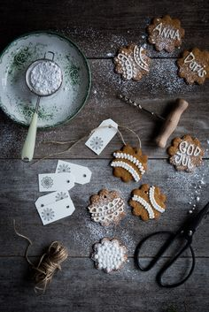christmas craft and iced annas gingerbread biscuits