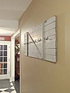Use an old door horizontally in an entrance space. Get some of our awesome hooks and you have a creative place to hang your hat. Yes, we have lots of old doors from which to choose.