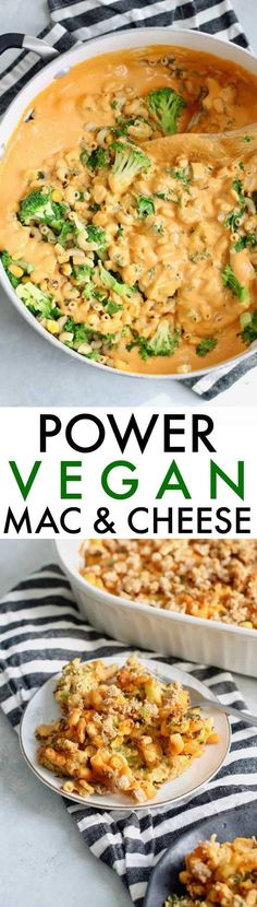 A super rich and creamy Vegan Power Mac and Cheese recipe made with whole grain noodles, broccoli, and greens! Kids and adults alike will adore this wholesome one-pot meal. # Healthy Recipes for kids Vegan Power Mac and Cheese - Hummusapien Vegan Dinner Recipes, Whole Food Recipes, Vegetarian Recipes, Healthy Recipes, Vegan Meals, Vegan Food, Xmas Recipes, Healthy Kids, Raw Vegan