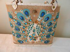 Vintage Enid Collins Pavan Blue Purse #EnidCollins #Handbag