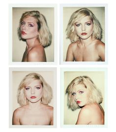Debbie Harry photographed by Andy Warhol