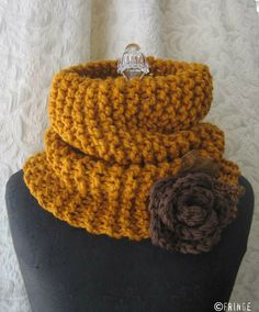 Buttered Rum Cowl Chunky Knit Cowl Butterscotch and by fringe, $78.00