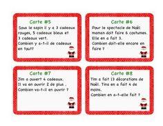 FREE CHRISTMAS - CARTES à TâCHES : RéSOLUTION DE PROBLèMES NOëL - TeachersPayTeachers.com