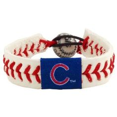 MLB Chicago Cubs Classic Baseball Bracelet (Sports)  http://www.amazon.com/dp/B001CG2W3E/?tag=pinterest0c9-20  B001CG2W3E Gift this!