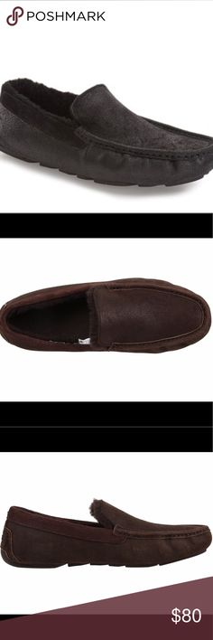 Brand New Men's Ugg Hendrick Bomber Slip on Brand New Men's Ugg Hendrick Bomber Slip on. Size 9.5. Come with 2 sets of soles. Chococate colored. Retail for $154.95. Make me an offer! UGG Shoes Loafers & Slip-Ons