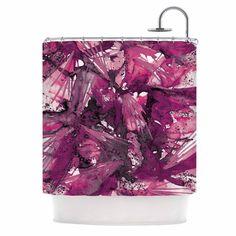Kess InHouse Ebi Emporium Birds Of Prey - Magenta Purple Pink Plum Shower Curtain