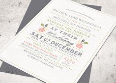 VINTAGE RUSTIC WEDDING Invitations  Monogram by ArtsyDesignCo