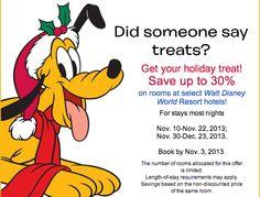 off this holiday season at Walt Disney World Resort! Disney World Resorts, Hotels And Resorts, Walt Disney World, Disney Vacation Deals, Disney Vacations, Holiday Treats, Books, Libros, Book