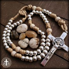 Rugged Rosaries ◾ Catholic Rosaries ◾ Paracord and Combat Rosaries Diamond Solitaire Necklace, 14k Gold Necklace, Silver Necklaces, Silver Jewelry, Paracord Rosary, Crystal Statement Necklace, Rosary Beads, Butterfly Pendant, Metal Beads