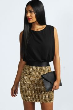 Kim Chiffon And Sequin 2 in 1 Dress
