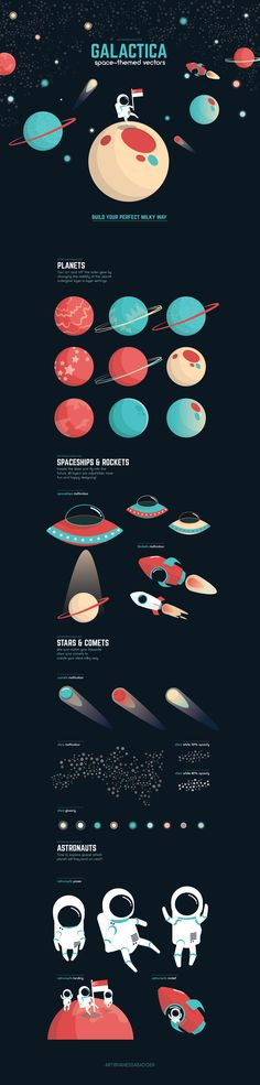 """Check out my @Behance project: """"Galactica"""" https://www.behance.net/gallery/55513611/Galactica"""