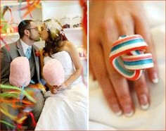candy wedding theme, candy ring <3 this idea