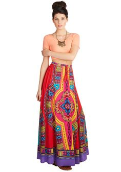 Resort Reviewer Skirt in Cabana. From the shoreline cocktail service to the accommodations, you get the full treatment in this boho skirt. #multi #modcloth