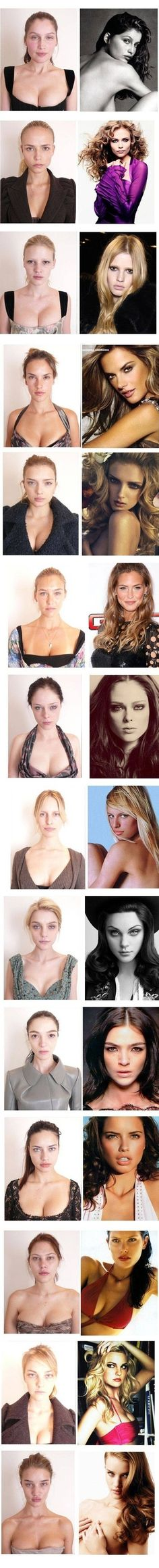 Hahaha and that's the reality! Models sometimes need some makeup too lol!!! #models #no makeup