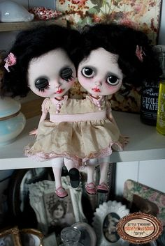Siamese twins...... (yes I know they're creepy!)
