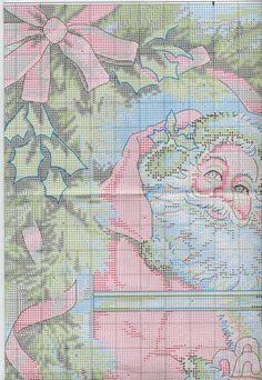 Схема вышивки Candy Cane Santa (Dimensions) 1 из 4