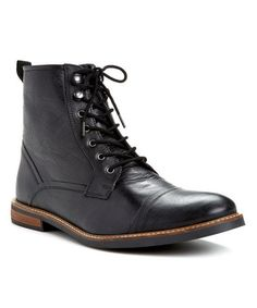 Look what I found on #zulily! Black Leon Leather Boot by Ben Sherman #zulilyfinds