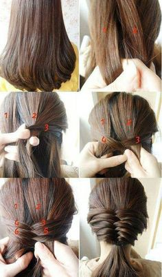 Quite a neat braid idea however i would stop it after the second quite a neat braid idea however i would stop it after the second section and turn it into one big swooping braid that would fall over the shoulde ccuart Choice Image