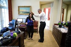 Obama got into the groove during a spontaneous dance with his personal aide Ferial Govashiri on March 16, 2016. Souza said the president was helping her prepare for her upcoming wedding