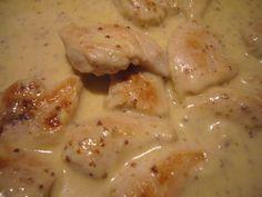 Aiguillettes de poulet sauce moutarde a l'ancienne