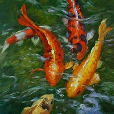 """Koi for the Pisces"" - Original Fine Art for Sale - © Carole Mayne"