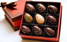 Chocolat des Arts: ovinhos decorados da linha Pêssanka