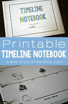 Printable Timeline Notebook