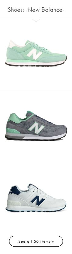 """Shoes: -New Balance-"" by pastelsets ❤ liked on Polyvore featuring shoes, sneakers, trainers, chaussures, mint, new balance footwear, new balance trainers, new balance shoes, mint sneakers and mint shoes"