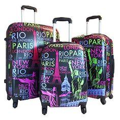 Travelers Club Paradise 3PC Softside Luggage Set - Yellow ...