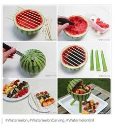 Watermelon Grill - simple and clever!