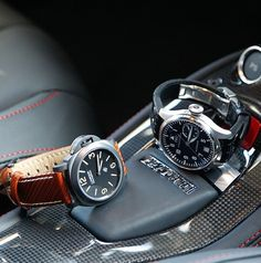 IWC & Panerai my two favorite watch brands. The IWC big pilot is too big in real life.