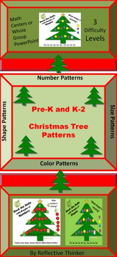 his 35-slide CCSS aligned Christmas interactive PowerPoint contains three differentiated levels of practice for number, shape, size, and color patterns for Grades Pre-K and K-2. The materials can be used in a math center or in a whole group setting. The PowerPoint contains Common Core Standards, instructions, teaching ideas and options, feedback slides, 9 red level slides (the easiest), 9 white level slides (more difficult than the red), and 9 green level slides (the most difficult). #christmas