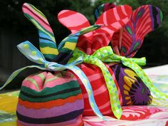 Easter Bunny Bags...thinking about doing these instead of plastic easter eggs...hmmmm