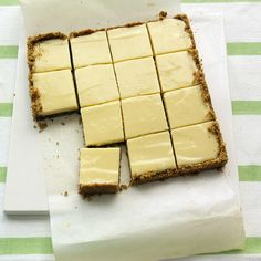 This dessert is a cross between Key lime pie and traditional lemon bars.