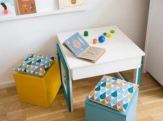 Kinderzimmermöbel selber bauen  DIY-Anleitung: Mitwachsenden Kindertisch bauen via DaWanda.com ...