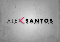 Logo for corporate identity Alex Santos Schilderwerken (http://www.alexsantos-schilderwerken.nl). Created by: http://www.rotterdam-vormgeving.nl