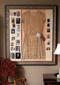 What a great way to display family heirlooms!