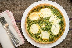NYT Cooking: Quiche With Herbs and Goat Cheese