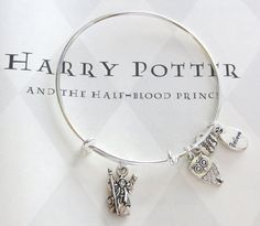 Special Harry Potter silver charm bangle inspired by Alex and Ani bracelets,This bangle will WOW all your Harry Potter fans. From the Dumbledore.