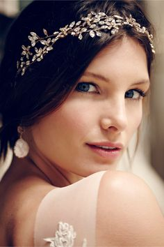 Honeysuckle Halo in Bride Veils & Headpieces Halos & Headbands at BHLDN