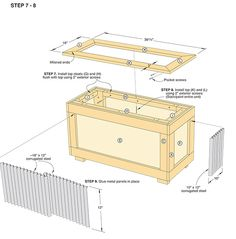 build a container garden & fill with seasonal plants - 2x4s, plywood & corrugated metal