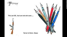 """""""Violence will not be able to stop cartoonists from doing their job,"""" said scientist and artist <a href=""""http://ireport.cnn.com/docs/DOC-1204341"""">Thomas Kodenkandath</a>."""