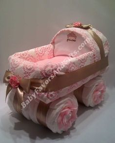 BABY DIAPER CAKES...Baby Carriage
