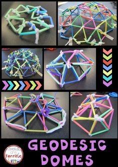 Two supplies, lots of research, lots of trial and error, lots of math, and load of fun! Building geodesic domes in the STEM Lab! Stem Science, Mad Science, Science Lessons, Science Centers, Steam Activities, Group Activities, Science Activities, Ms Project, Stem Classes