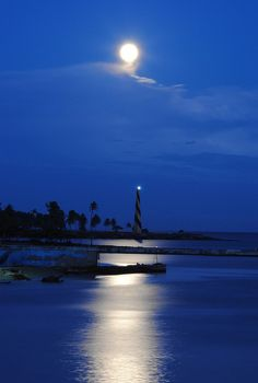 SUPER MOON San Souci lighthouse and the perigee Moon, in the Dominican Republic. Credit: Goku Abreu.