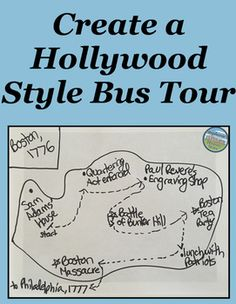 Students review any history unit or topic by creating a Hollywood style bus tour. There are 13 requirements to this project balancing historical accuracy and creativity, including: the person's occupation, why a site should be preserved, eating lunch with a group of historical figures, creating a route and map, and much more! A sample layout is included in the file, though students should be encouraged to express their own creativity in completing this project.