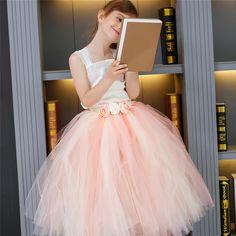 Rosa, azul Niñas Vestidos de Niña de las Flores Vestido Formal Para La Fiesta Y Boda Niños Tutú de Tul Vestido de Traje de Princesa Vestidos 2-14Years